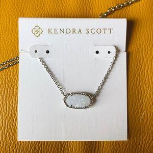 Kendra Scott Elisa silver drusy pendant necklace